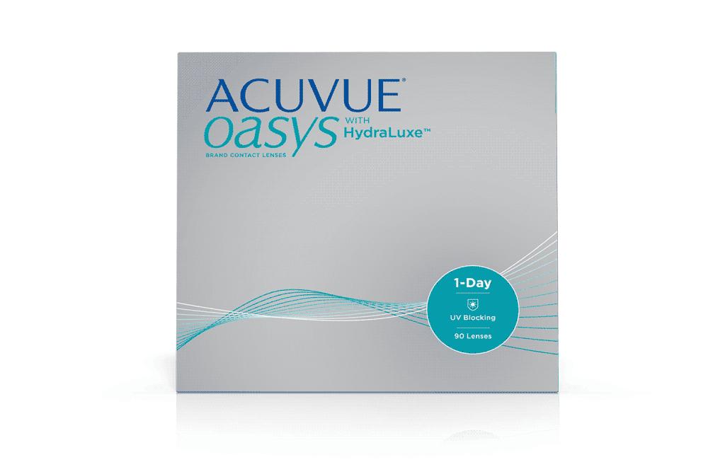 ACUVUE® OASYS® 1-DAY בטכנולוגיית HydraLuxe™ – עדשות מגע