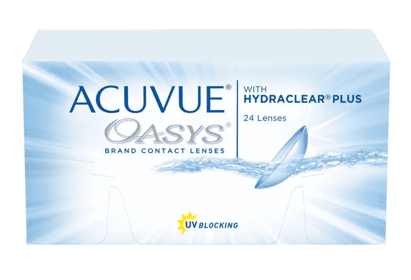 ACUVUE® OASYS® 2-WEEK עם HYDRACLEAR® PLUS – עדשות מגע