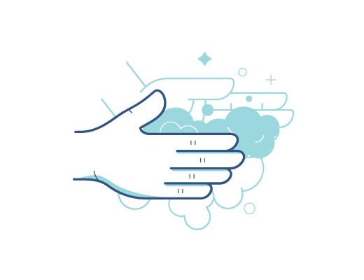 שטיפת ידיים לפני טיפול בעדשות