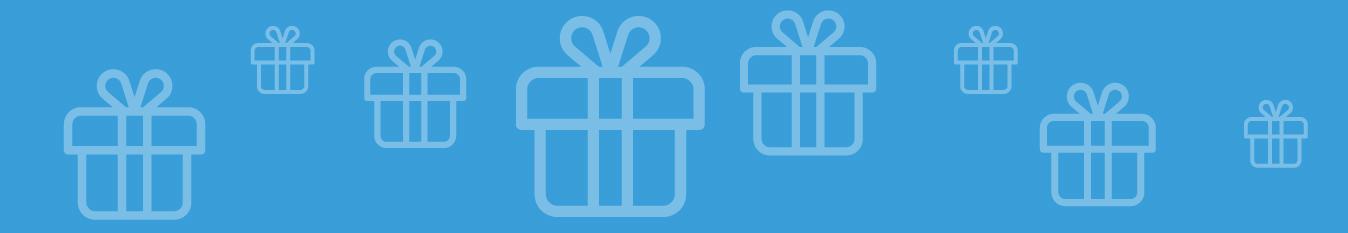 רקע כחול עם מתנות